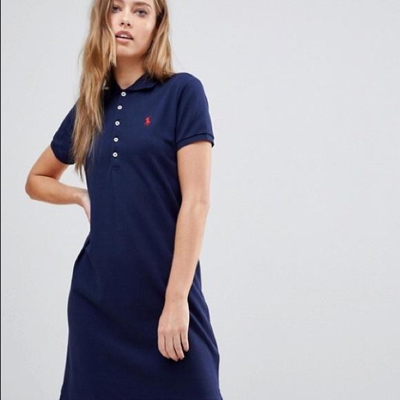 8a6d180fec Navy Blue Ralph Lauren Polo Dress